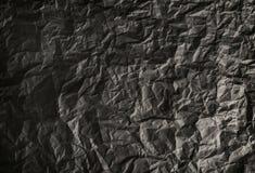 Vinheta de papel amarrotada do fundo Textura do papel amarrotado imagem de stock