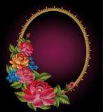 Vinheta do vetor de um ramalhete das rosas ilustração royalty free