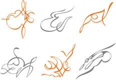 Vinhetas abstratas 3 ilustração royalty free