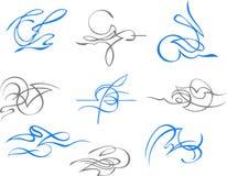 Vinhetas abstratas 4 ilustração royalty free
