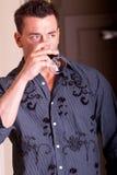 Vinho bebendo Fotografia de Stock Royalty Free