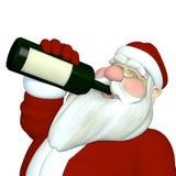 Vinho bebendo de Santa Imagens de Stock Royalty Free