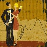 Vinho bebendo dos pares Imagem de Stock Royalty Free