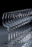 Vinho branco de vidro Fotografia de Stock Royalty Free