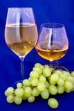 Vinho branco e conhaque Fotografia de Stock Royalty Free