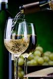 Vinho branco e queijo Imagem de Stock Royalty Free