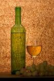 Vinho branco e uvas brancas Imagem de Stock Royalty Free