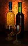 Vinho branco e vermelho Foto de Stock Royalty Free