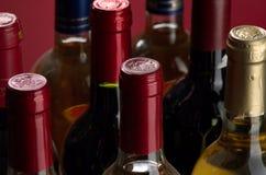 Vinho branco e vermelho Fotografia de Stock