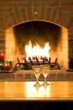 Vinho, calor, e romance Foto de Stock Royalty Free