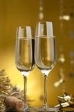 Vinho. Champagne Fotos de Stock Royalty Free