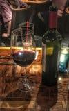 Vinho com jantar Fotografia de Stock