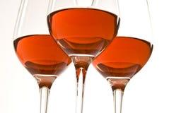 Vinho cor-de-rosa Fotografia de Stock Royalty Free