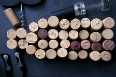 Vinho Cork Collection Fotografia de Stock