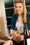Vinho da mulher Imagem de Stock Royalty Free