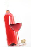 Vinho de Rosa Fotografia de Stock Royalty Free
