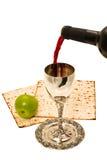 Vinho de Shabbats no copo Imagem de Stock Royalty Free
