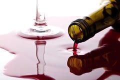 Vinho de Spiiled Imagem de Stock Royalty Free