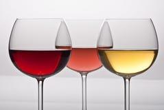 Vinho de três colorss Foto de Stock