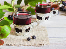 Vinho do aronia Fotos de Stock Royalty Free