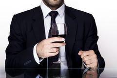 Vinho do homem Fotografia de Stock Royalty Free