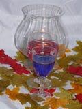 Vinho do outono pela luz da vela Foto de Stock Royalty Free