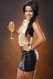 Vinho dourado Imagens de Stock Royalty Free
