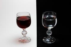 Vinho e água Imagem de Stock Royalty Free