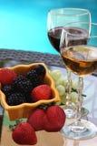 Vinho e baga Imagens de Stock Royalty Free