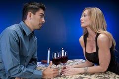 Vinho e bate-papo Imagens de Stock Royalty Free