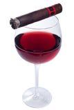 Vinho e charuto Imagens de Stock