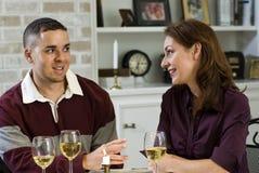 Vinho e conversação fotografia de stock
