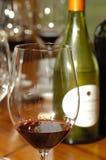 Vinho e frasco fotografia de stock