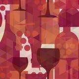 Vinho e fundo sem emenda do teste padrão da bebida Fotografia de Stock Royalty Free