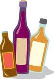 Vinho e licor da cerveja ilustração royalty free