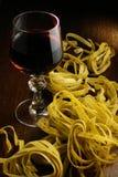 Vinho e massa Imagens de Stock Royalty Free