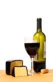 Vinho e queijo fotografia de stock