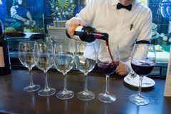 Vinho e tapas no Madri fotografia de stock royalty free