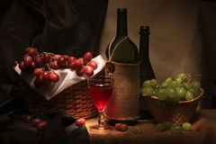 Vinho e uva Fotografia de Stock Royalty Free