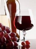Vinho e uva Fotografia de Stock