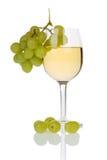 Vinho e uvas fotografia de stock