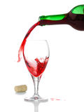 Vinho e vidro Imagens de Stock