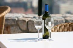 Vinho e vidros fotografia de stock