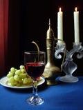 Vinho em um vidro Foto de Stock Royalty Free