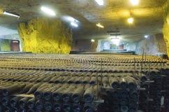 Vinho-frascos Foto de Stock Royalty Free