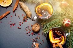 Vinho Mulled Foto de Stock Royalty Free