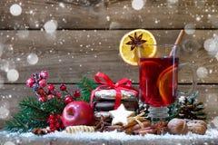 Vinho mulled Natal Imagens de Stock