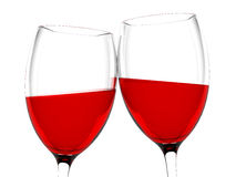 Vinho no vidro Fotografia de Stock Royalty Free