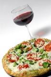 Vinho orgânico da pizza fotografia de stock
