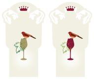 Vinho-orgânico-uva-etiquete Fotografia de Stock